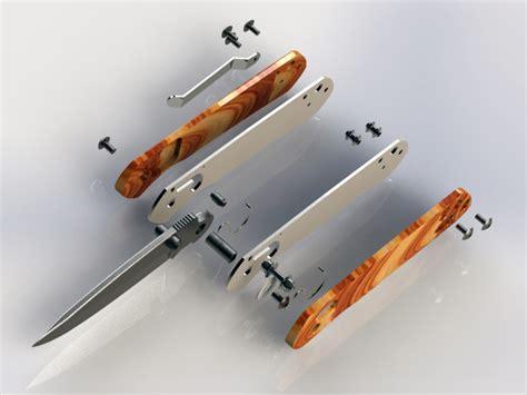 solidworks tutorial knife folding knife ganzo g717 3d cad model grabcad