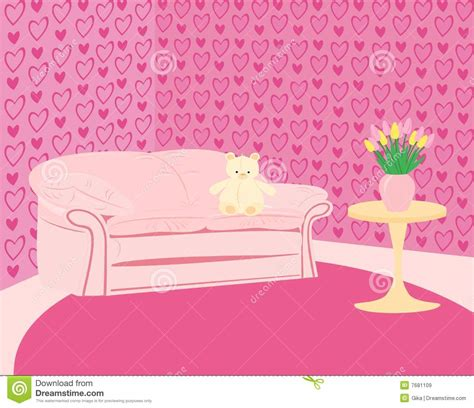 girls pink sofa girl s pink room with pink sofa and teddy bear royalty