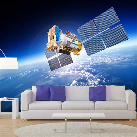 solar system bedroom decor quot for jordan my little satellite planet earth wall mural space photo wallpaper