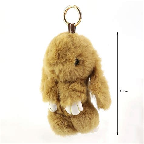 6 inch fluffy bunny rabbit key chain ring for phone bag lucky pendant gt ebay