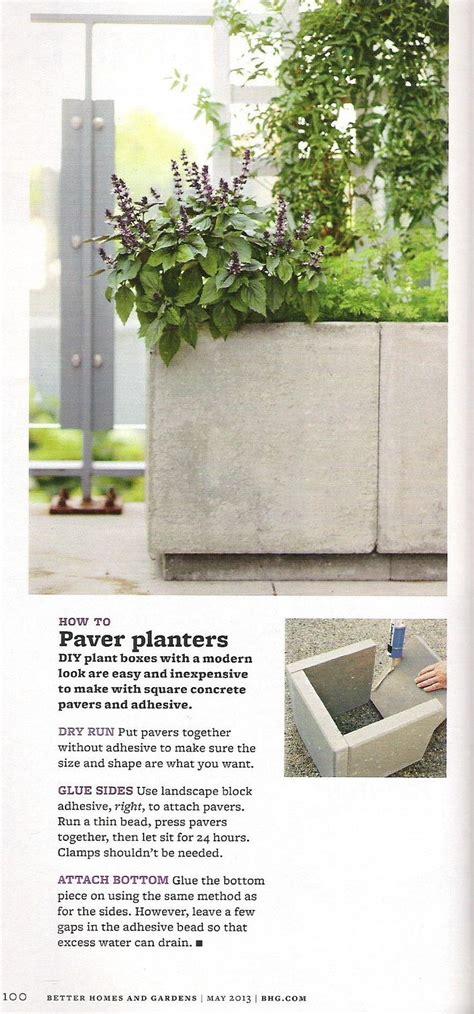 Concrete Paver Planters by Paver Planter Container Gardening Concrete