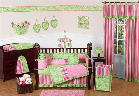green and pink crib bedding pink and green baby bedding 9 crib set