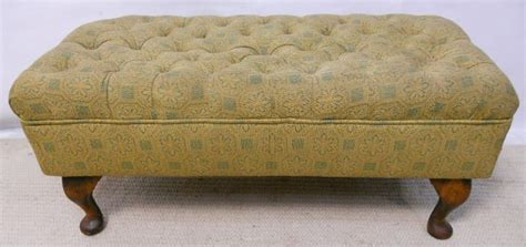 Footstool Upholstery by Footstool Upholstered In Liberty Fabric With Button Top