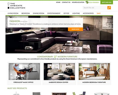 Ambiente Furniture Raleigh by Catalog Web Design Cms Ambiente Furniture