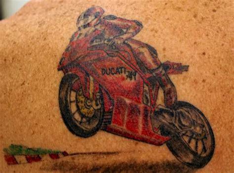 ducati motorbike tattoo