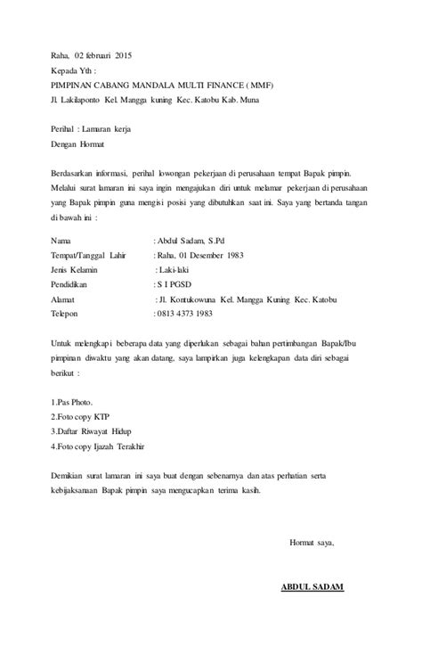 Application Letter Contoh Dan Penjelasan Contoh Surat Lamaran Kerja Oto Finance 28 Images Unforgettable Internship College Credits