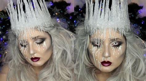 tutorial make up viva quen ice queen makeup tutorial diy ice crown jordan hanz