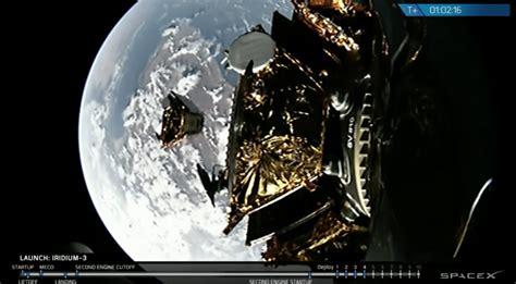 spacex launches  set  iridium  satellites