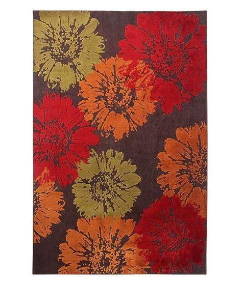 orange floral rug riva carpets and orange floral rug buy riva carpets and orange floral rug at