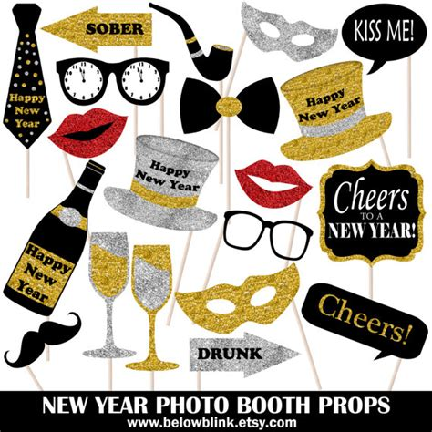 printable photo booth props nye new year photo props printable photo booth props holiday