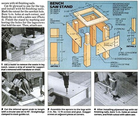 woodworking plans miter saw stand