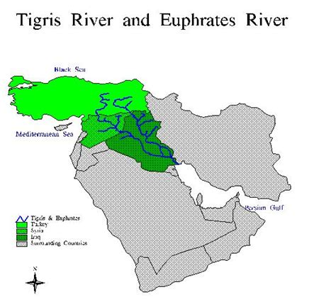 middle east map euphrates river southeastern anatolian project gap