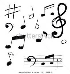 the sonars musical doodle free musical note doodle set stock vector 121154293