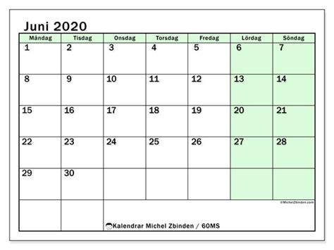 kalendrar juni  ms michel zbinden sv