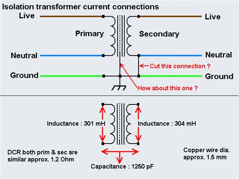 audio isolation transformer wiring diagram audio free