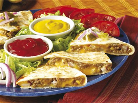 Cheese Cimory cheeseburger quesadilla