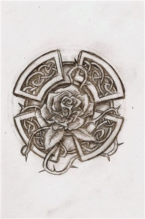 scottish rose tattoo celtic by wind666walker on deviantart