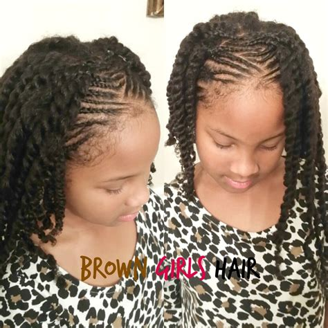 black female with hair twisted up in a ponytail top 5 little girl hairstyles for summer brown girls style