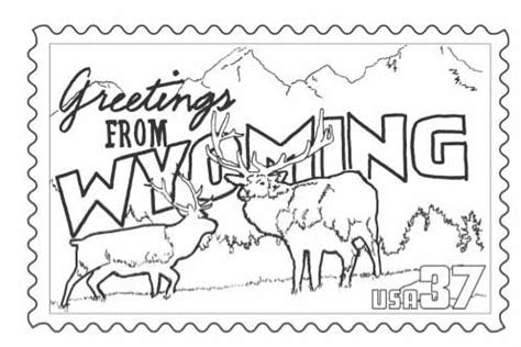 coloring book postcards wyoming st coloring page classbrain s state reports