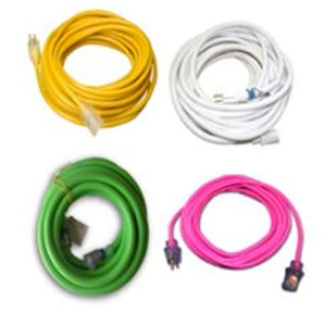 colored extension cords handyman supply company extension cords colored