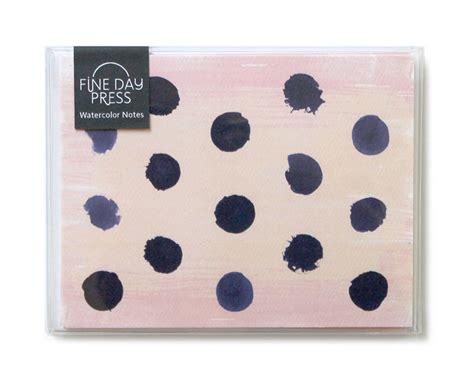 Set Polky Dot Gvr polka dot watercolor notes boxed set of 6 day press