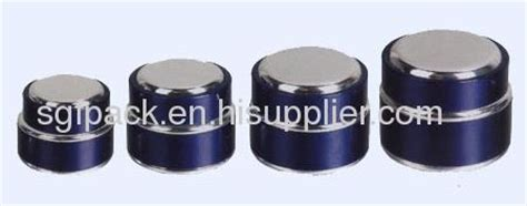 Inner Cape Top cosmetic container anodized aluminum container from china