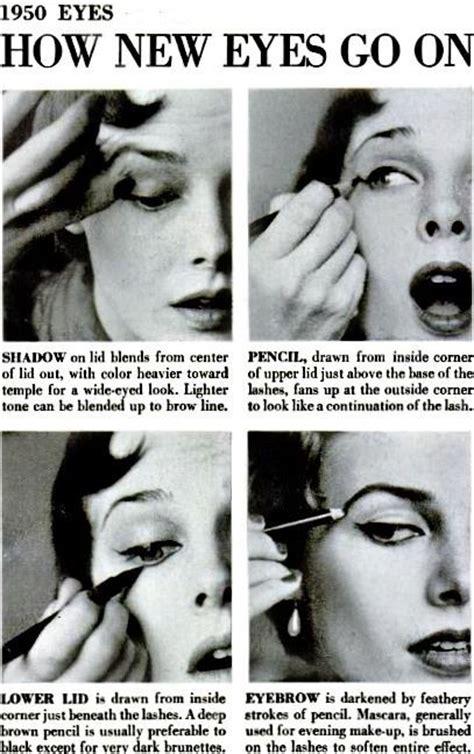 tutorial makeup vintage 1950s eye makeup howto vintage 1950s makeup have you