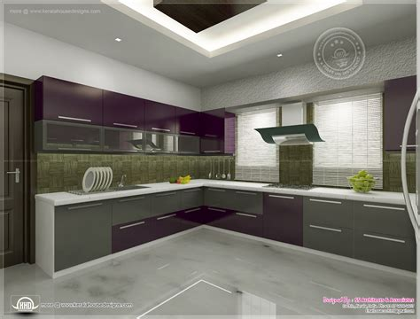 kitchen interior views  ss architects cochin home