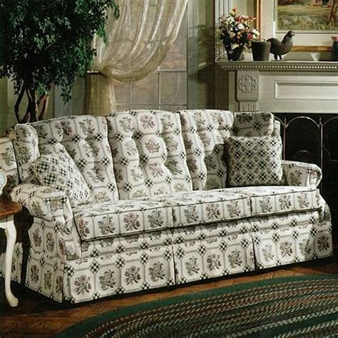country couches lancer 840 country style sofa with skirt wayside