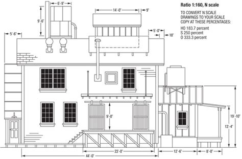 Free House Blueprints And Plans by Scratchbuild A Small Factory Modelrailroader Com