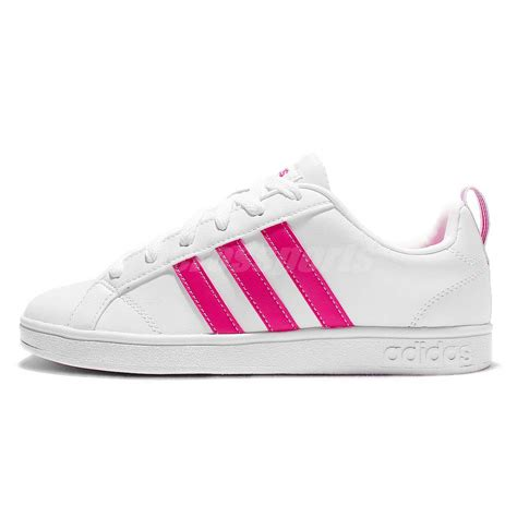 adidas neo label advantage vs w white pink womens casual shoes sneakers aw4790 ebay