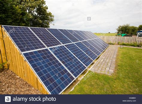 Backyard Solar Panels by Solar Panels In The Garden Of A House Near Aldbrough