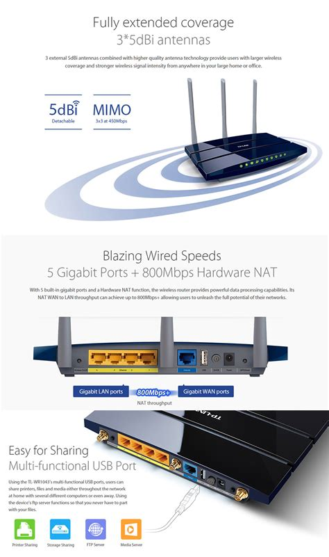 Router Speedy tp link wireless n gigabit router speed boost 450mbps with