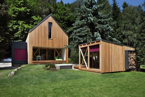modern small cabins a contemporary wooden cottage by prodesi small house bliss