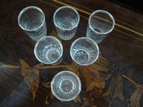 Serpentine Goblets It Or It by Birmingham 1889 Hallmarked Solid Silver And Cut Glass Set