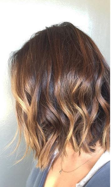 summer ombre for brunettes brunette ombre on short hair hair color pinterest