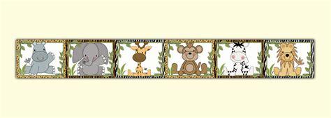 Wallpaper Border Animal dec studios jungle animals wallpaper border wall