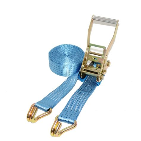 Tomeco 50mm X 4 Ton X 8 Meter Cargo Lashing J Hook Te7101 ratchet straps 12 meter x 50mm 5 tons blue at handy