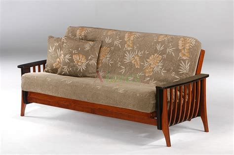 What Is A Futon Sofa by And Day Futon Sofa Bed Cherry Chocolate