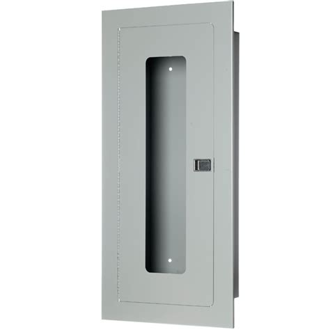 recessed extinguisher cabinet 10 lb fully recessed extinguisher cabinet steel