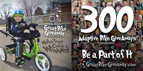 Great Bike Giveaway - how your child with special needs can win an adaptive bike friendship circle