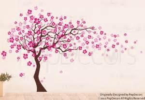 cherry blossom tree wall decal by popdecors trailing cherry blossom tree wall stickers