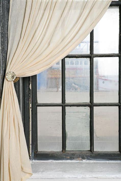 Vintage Door Knob Curtain Tie Backs by Door Knob Curtain Tie Back