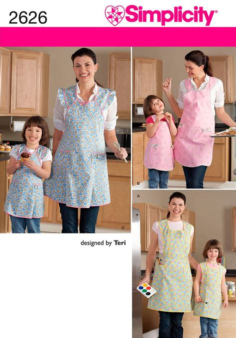 dominion pattern works inc simplicity 2626 apron patterns pinterest sewing
