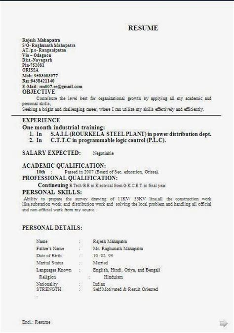 resume objective exles canada canadian cv format beautiful professional curriculum vitae resume format with career objective