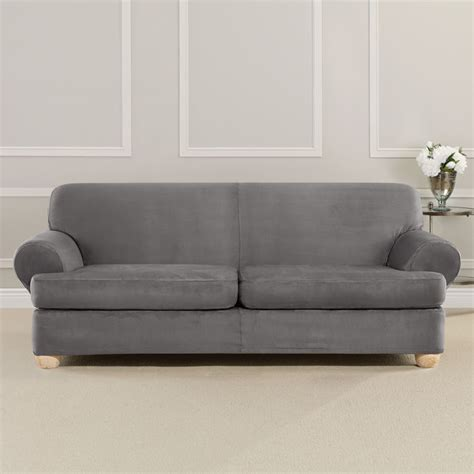 sure fit stretch suede sofa slipcover sure fit ultimate heavyweight stretch faux suede 2