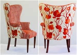Wing Back Accent Chair Decorating With Red Centsational