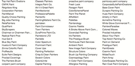 painting company names how i found the name for