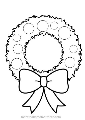 blank wreath coloring page christmas coloring pages printables