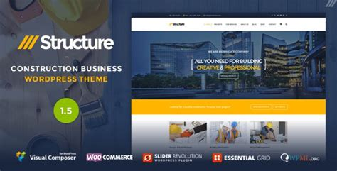 themeforest construction template structure v1 4 construction wordpress theme free